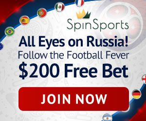 Spin Palace Sports World Cup promo