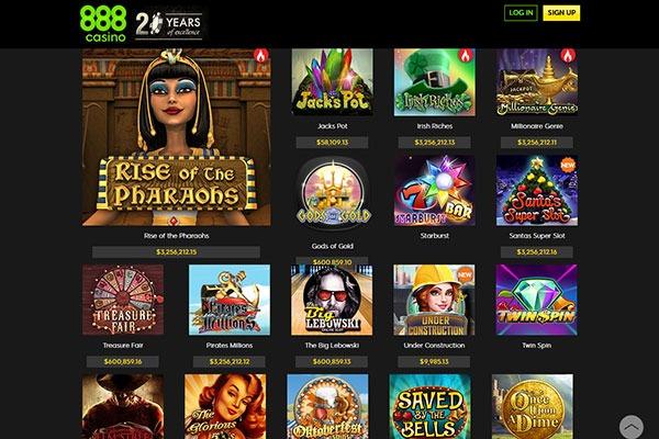 888 Casino Games Canada