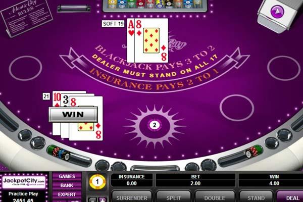 Jackpot City Canada Blackjack