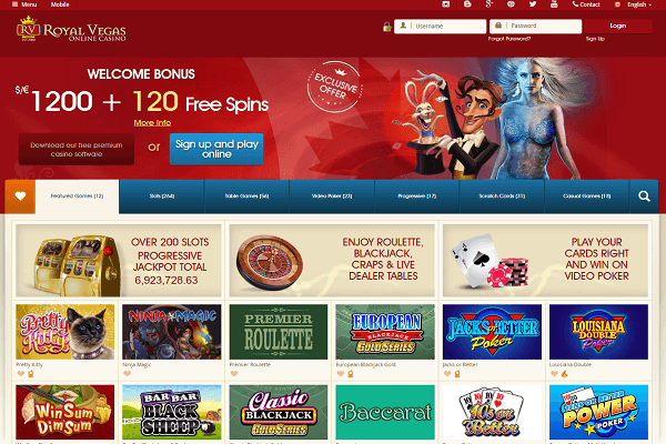 Royal vegas canada homepage