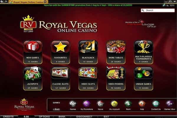 Royal vegas casino software
