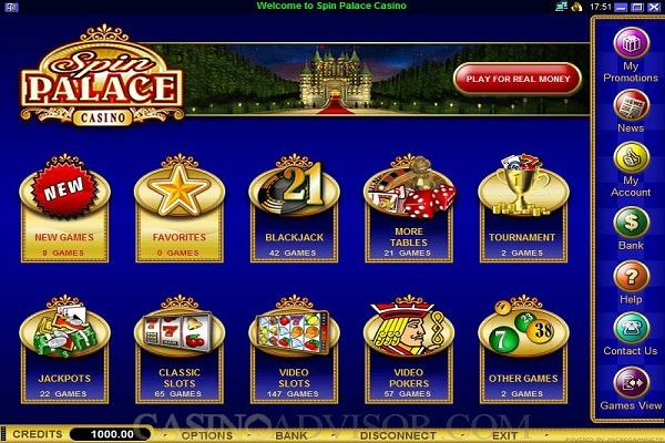 spin palace casino software
