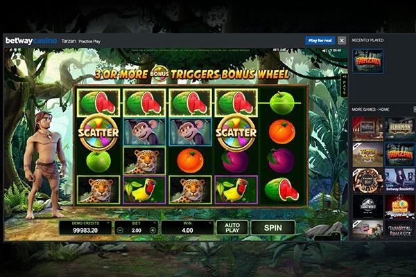 Betway Canada Tarzan slot game