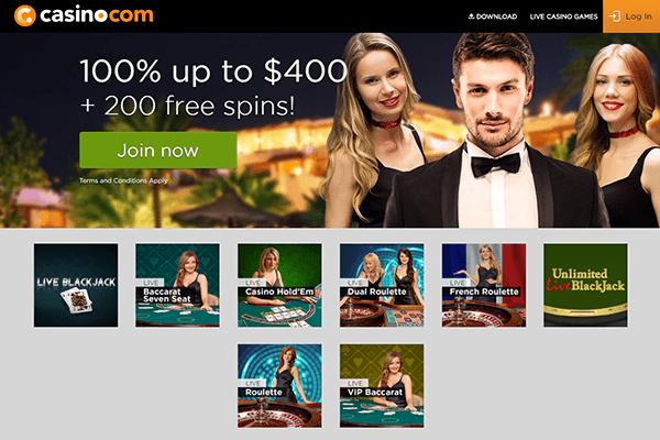 casino com live dealer casino