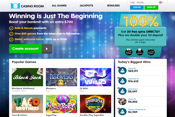 Casino room homepage