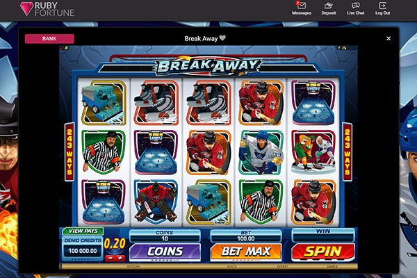 Ruby Fortune Breakaway slot game