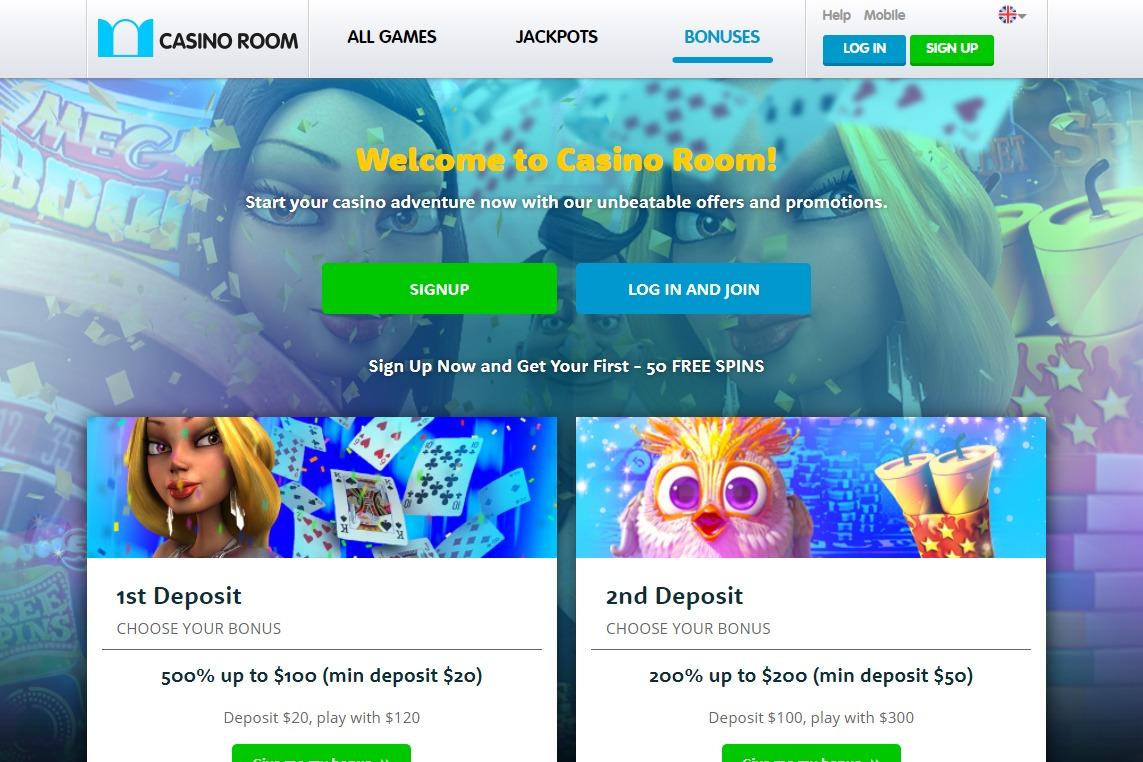 casino room bonus page