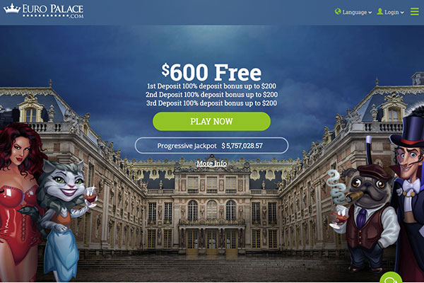 Europalace casino home page