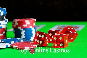 Gambling Guide-chips and dice