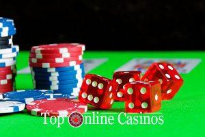 Gambling Guide-Chips und Würfel
