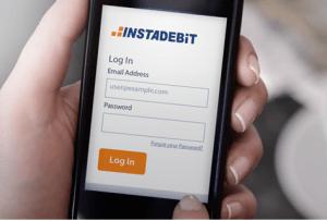 instadebit mobile screenshot
