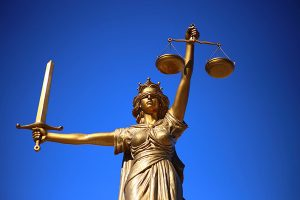 Legal -justice is blind statue