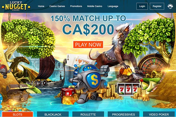 Lucky Nugget Casino Canada homepage