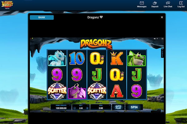 Lucky Nugget Dragonz slot game