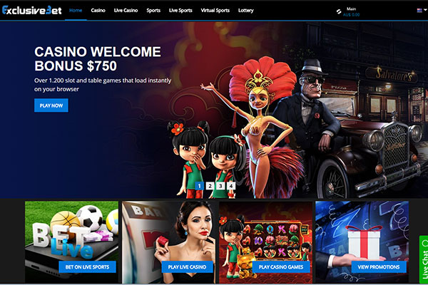 Exclusive Bet home page