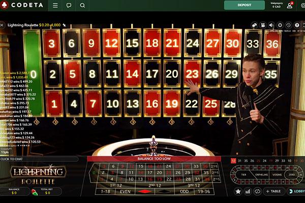 codeta casino live dealer roulette