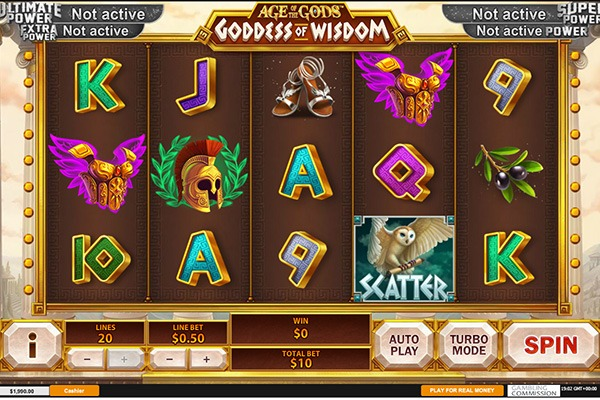 Spiele Age Of The Gods: Goddes Of Wisdom - Video Slots Online