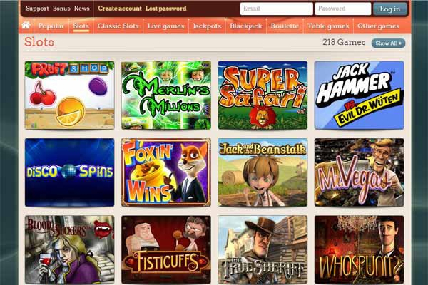 Leo Vegas Canada Casino games