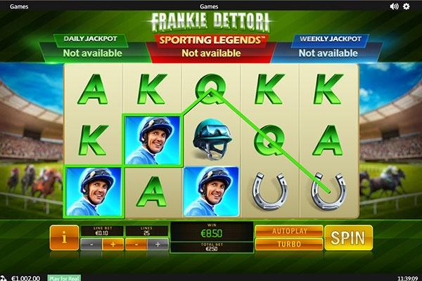 Omni Slots Canada Frankie Dettori slot game