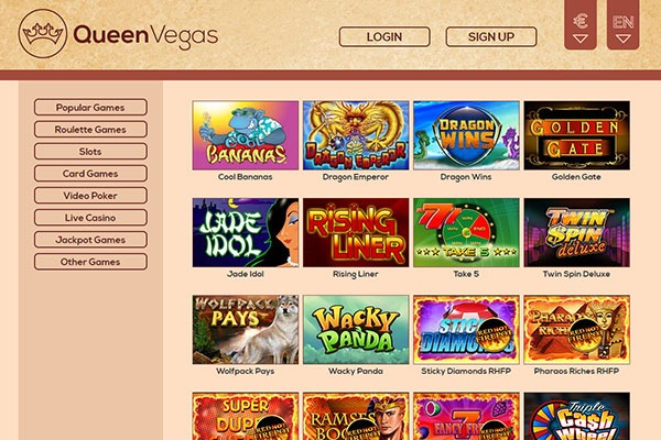 queen vegas casino games
