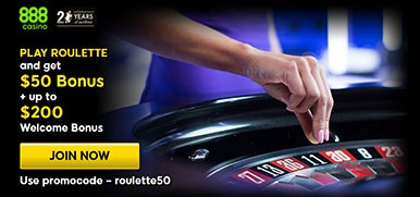 888 Casino Roulette Promotion: $50 Free Play on Deposit