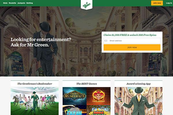 MrGreen Casino Canada homepage