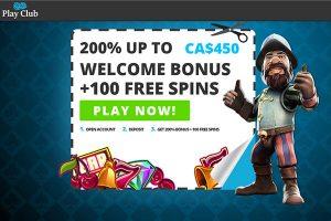 Play Club Exclusive Bonus home page
