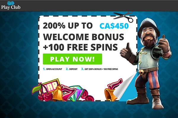Play Club Exclusive Bonus home page