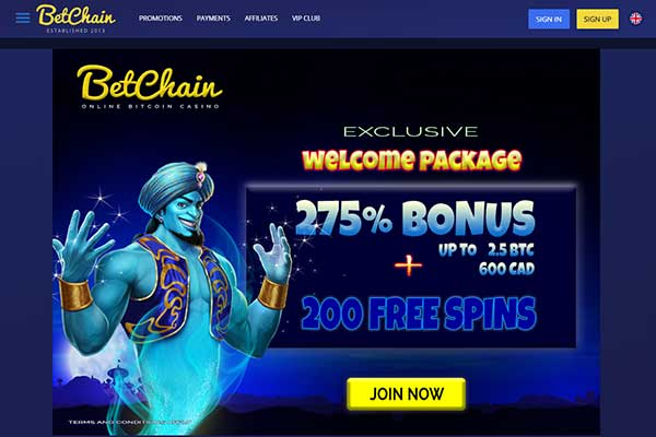 Betchain Exclusive Offer