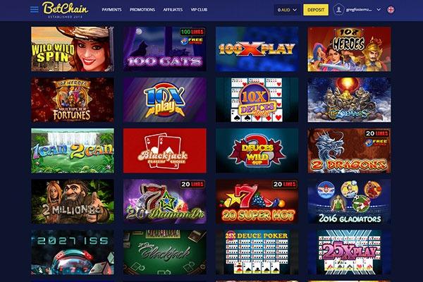Betchain Canada casino games
