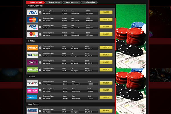 Mongoose Casino CAD deposit methods