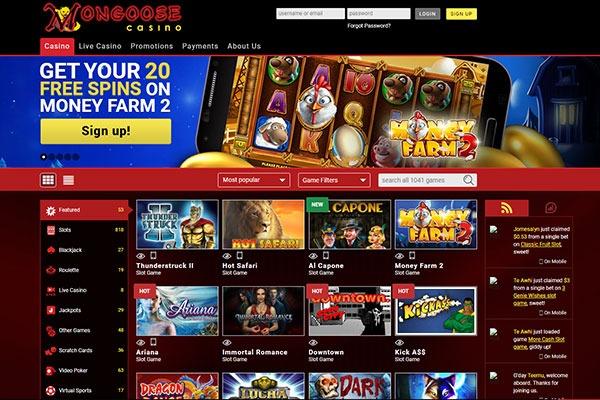 Mongoose Canada casino home