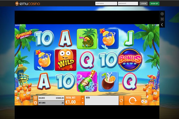 Emu Casino Spinions slot game