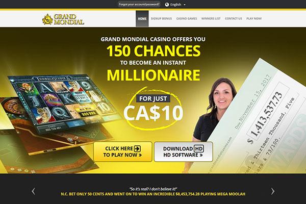 Grand Mondial Casino Canada home