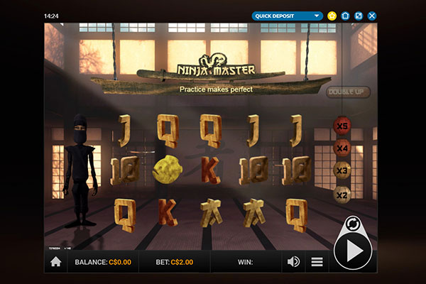Play Million Ninja Master slot game