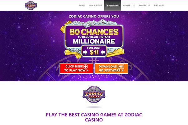 Zodiac Canada home page