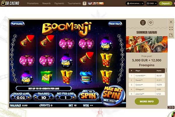 Bob Casino Boomanji slot game