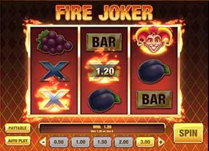 fire joker slot win