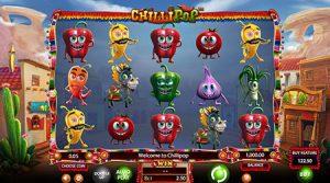 Chilli Pop slot symbols