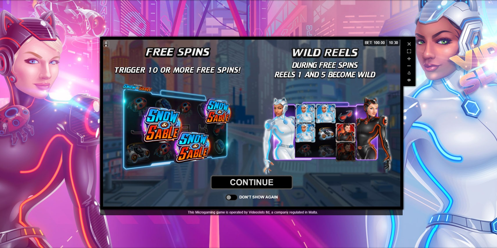 Play Action Ops Snow and Sable slot game
