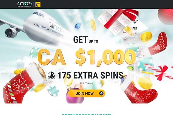 Gate777 Casino home page