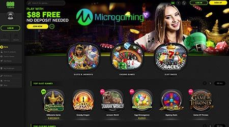 888 Casino Microgaming