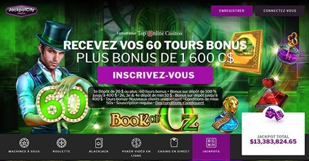 Jackpot City Casino 60 tours gratuits